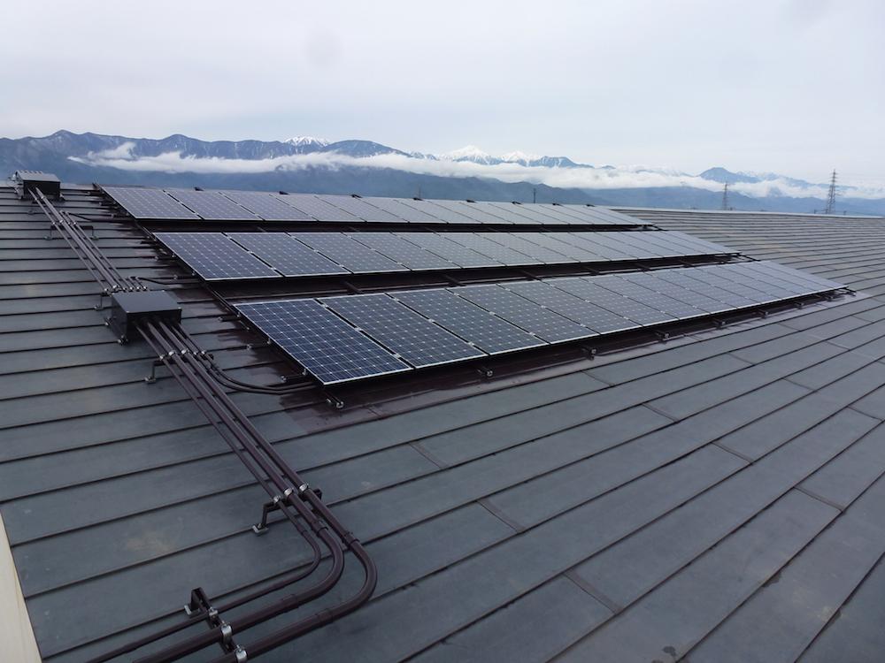 松本市立松島中学校太陽光発電設備設置工事